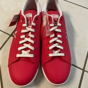 Adidas Stan Smith Leather Coral Red Size 12